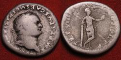 Ancient Coins - TITUS AUGUSTUS AR silver denarius. Venus leaning against column. Scarce