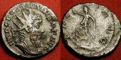 Ancient Coins - POSTUMUS AR silver antoninianus. Pax advancing, holding branch & scepter.
