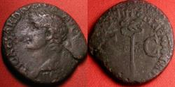 Ancient Coins - TIBERIUS AE as. Rome, 23-24 AD. Winged caduceus.