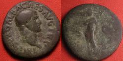Ancient Coins - GALBA AE as. LIBERTAS PVBLICA, Libertas standing, holding pileus and rod.