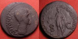 Ancient Coins - ANTONIA AE dupondius, mother of Claudius, daughter of Marcus Antonius. Scarce