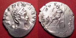 Ancient Coins - SALONINA AR antoninianus. VENVS FELIX, Venus seated, reaching out for child.