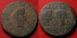 Ancient Coins - AUGUSTUS, with Caius & Lucius Caesar, AE as. Hispania Tarraconensis, Spain.
