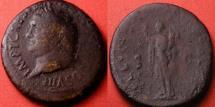Ancient Coins - TITUS AUGUSTUS AE sestertius. FELICIT PVBLIC, Felicitas holding cornucopia & scepter. Left facing portrait. Scarce