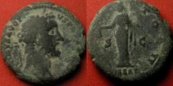 Ancient Coins - ANTONINUS PIUS AE as. IMPERATOR II, Libertas standing, LIBERT in exergue.