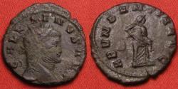 Ancient Coins - GALLIENUS AE antoninianus. ABUNDANTIA standing, emptying out cornucopia. Scarce