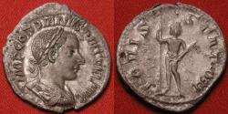 Ancient Coins - GORDIAN III AR silver antoninianus. IOVI STATORI, Jupiter with scepter & thunderbolt. Beauty