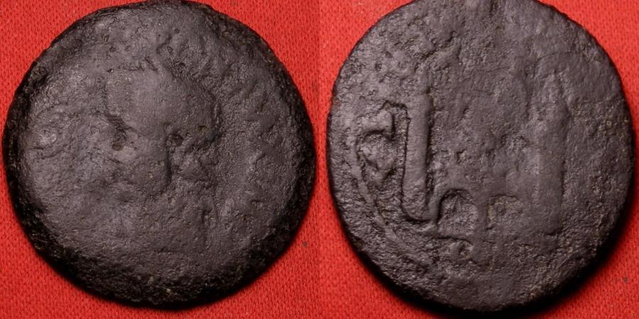 Ancient Coins - TIBERIUS AE 27mm. SPAIN, Colonia Augusta Emerita, City gate. Scarce