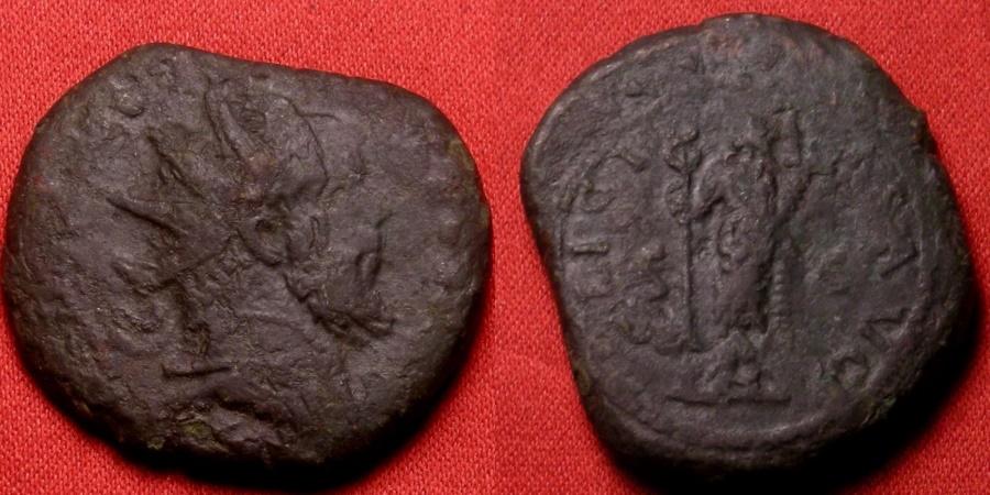 Ancient Coins - POSTUMUS AE dupondius/double sestertius. FELICITAS standing, holding caduceus & cornucopia. S C in fields.