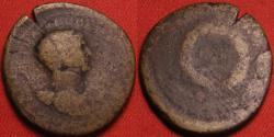 Ancient Coins - TRAJAN AE radiate 'semis' or 'reduced dupondius'. Struck at Rome, or Commagene/Cyprus/Antioch for use in the East. Full shouldered bust with drapery. SC in wreath. Scarce.