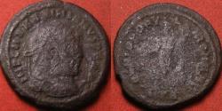 Ancient Coins - MAXIMIANUS AE large follis. Trier mint, 301-305 AD. Genius standing