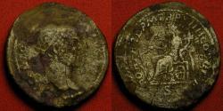 Ancient Coins - CARACALLA AE orichalcum dupondius. Rome, 211 AD.