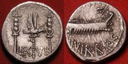 Ancient Coins - MARCUS ANTONIUS (Marc Antony) AR silver Legionary denarius. LEGION VI FERRATA. The Ironclads