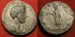Ancient Coins - COMMODUS, as Caesar under Marcus Aurelius, AR silver denarius. SPES PVBLICA
