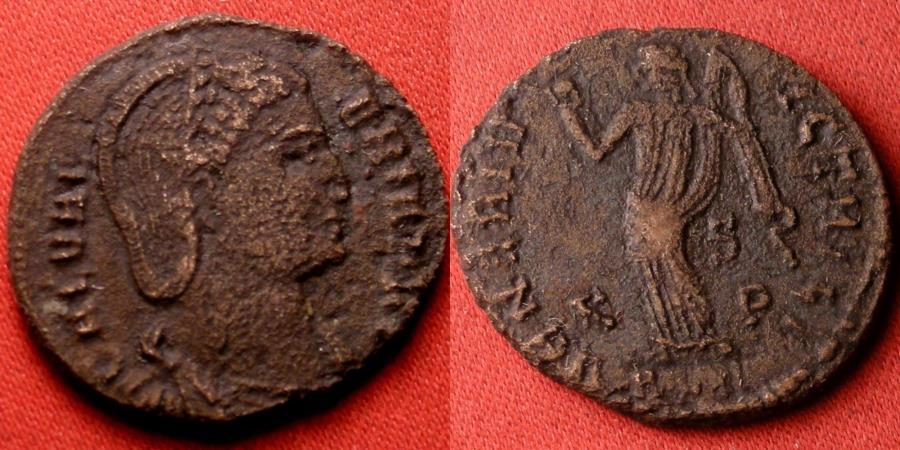 Ancient Coins - GALERIA VALERIA AE follis. Venus standing, holding apple. Alexandria mint.