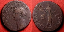 Ancient Coins - CLAUDIUS AE as. Libertas standing, holding pileus.