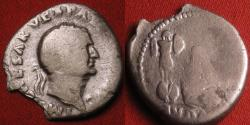 Ancient Coins - VESPASIAN AR silver denarius. Captive Jewess beneath trophy of arms. Judaea Capta.