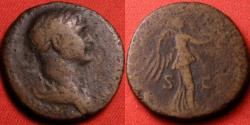 Ancient Coins - TRAJAN AE as. 115-116 AD. Victoria advancing right.
