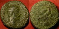 Ancient Coins - DIVUS MARCUS AURELIUS AE as/dupondius. CONSECRATIO, Eagle on globe.