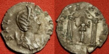 Ancient Coins - SALONINA billon antoninianus. DEAE SEGETIAE, goddess in four columned temple