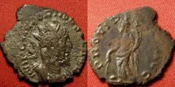 Ancient Coins - VICTORINUS AE silvered antoninianus. Providentia standing, holding cornucopia, globe at her feet