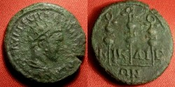 Ancient Coins - SEVERUS ALEXANDER AE 20mm. Nicaea in Bithynia. Three standards.