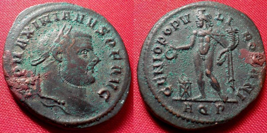 Maximianus Follis - GENIO POPVLI ROMANI - Alexandria Mint