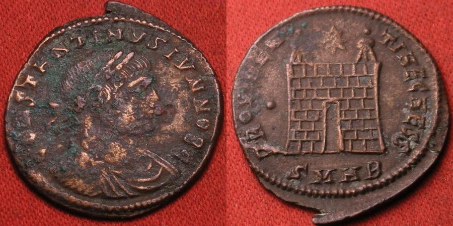 Ancient Coins - CONSTANTINE II AE3 campgate. Heraclea mint.