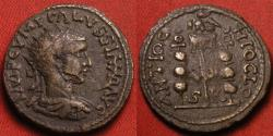 Ancient Coins - VOLUSIAN AE 22mm. Pisidia, Antioch. Eagle & standards.