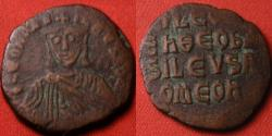 Ancient Coins - LEO VI The Wise AE follis. 866-912AD. Legend in 4 lines.