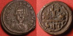 Ancient Coins - CONSTANS II AE half follis. Carthage mint. XX with cross between. Very scarce. 7.6g