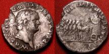 Ancient Coins - TITUS AR silver denarius. Quadriga facing left, carrying corn ears. Scarce