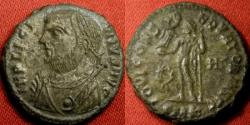 Ancient Coins - LICINIUS I AE silvered reduced follis. Cyzicus mint, IOVI CONSERVATORI. Scarce.