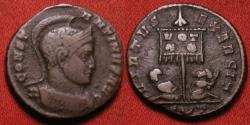 Ancient Coins - CONSTANTINE I THE GREAT AE3. Ticinum. Captives under standard