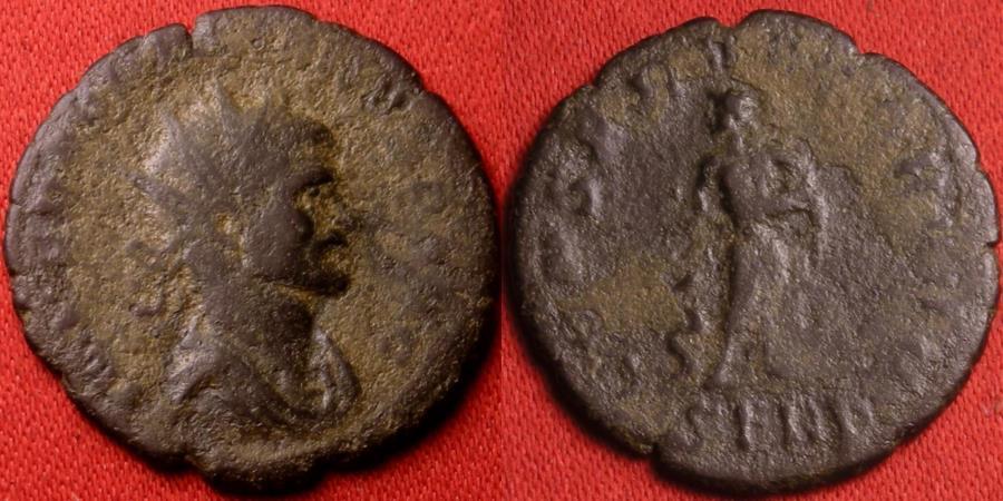 Ancient Coins - AURELIAN AE antoninianus. Serdica mint. CONSERVATOR AVG, Asclepius standing, holding serpent-entwined staff. Rare!