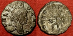 Ancient Coins - GALLIENUS AE silvered antoninianus. Rome mint. IOVI PTROPVGNAT (legend blunder with an added T). Jupiter standing.