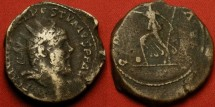 Ancient Coins - POSTUMUS AE orichalcum 'double sestertius'. Pax advancing left, small globe at her feet.
