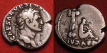 Ancient Coins - VESPASIAN AR silver denarius. Captive Jewess beneath trophy of arms. Judaea Capta.
