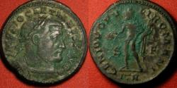 Ancient Coins - DIOCLETIAN AE silvered follis. Trier mint. GENIO POPULI ROMANI. 10.8 grams