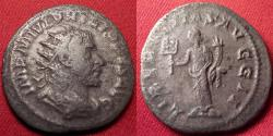 Ancient Coins - PHILIP I THE ARAB AR silver antoninianus. Liberalitas standing, holding coin counter.