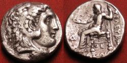Ancient Coins - SELEUKOS I NIKATOR AR silver tetradrachm. Antioch on the Orontes. Herakles/Zeus Nikephoros