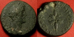 Ancient Coins - ANTONINUS PIUS AE 28mm. 14.8g. Thessalonica, Macedonia. Winged thunderbolt. Scarce