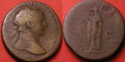 Ancient Coins - TRAJAN AE dupondius. Spes advancing left, holding flower.