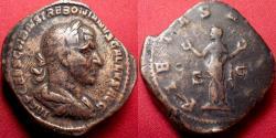 Ancient Coins - TREBONIANUS GALLUS AE sestertius. PIETAS AVGG, Pietas standing, arms raised. Heavy 25,2 grams!!