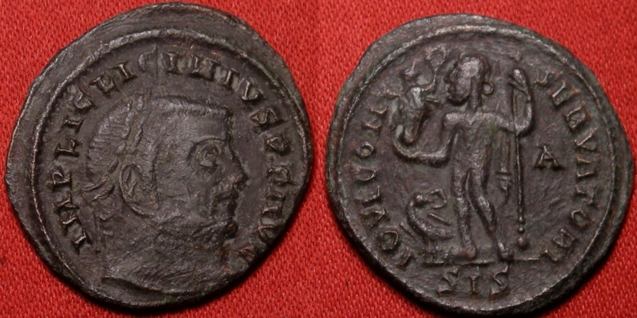 Ancient Coins - LICINIUS I AE follis. Siscia mint, 311 AD. IOVI CONSERVATORI, Siscia mint.