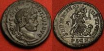 Ancient Coins - CONSTANTINE I THE GREAT AE3. SARMATIA DEVICTA, Victory advancing, beside captive. Lugdunum mint