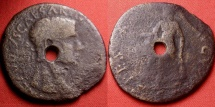 Ancient Coins - CLAUDIUS AE sestertius. Spes standing, provincial issue