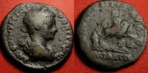 Ancient Coins - CARACALLA AE as. INDULGENTIA IN CARTH, Dea Caelestis on lion. Ancient Gaul lightweight cast.
