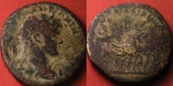 Ancient Coins - MARCUS AURELIUS AE 33mm. 23.6g. Lydia, Hypaipa. Cult statue of Artemis Ariatis in quadriga