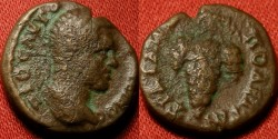 Ancient Coins - CARACALLA AE 17mm. Trajanopolis, Thrace. Bunch of grapes.